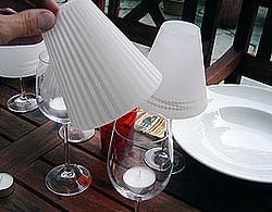 wijnglas als lamp