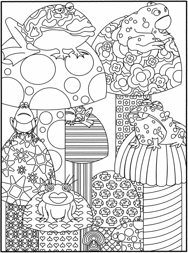 peace frog coloring pages - photo#11