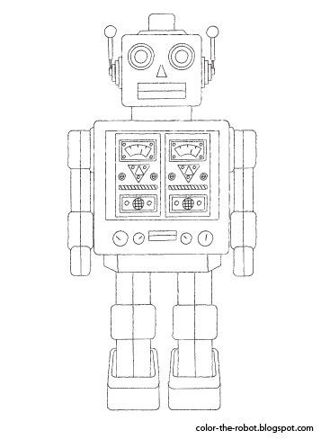 Op Zoek Naar Leuke Kleurplaten Bekijk Deze Robot Kleurplaten