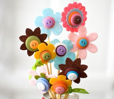 bloemen vilt