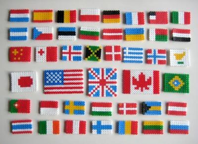 strijkkralen vlaggen