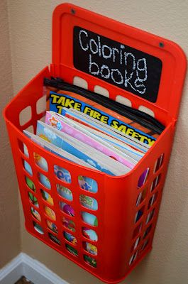 opbergen kleurboeken
