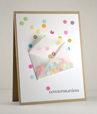 kaart confetti