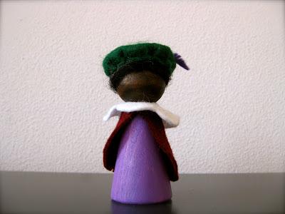 peg doll zwarte piet