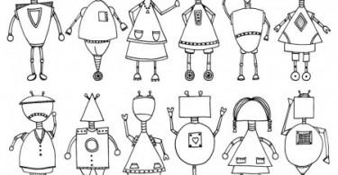 Robots kleurplaat
