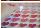 schilderij van hartjes