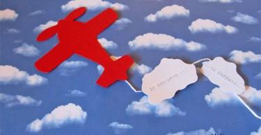 uitnodiging vliegtuigje