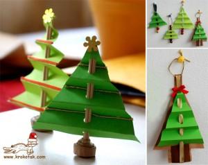 kerstboom van papier