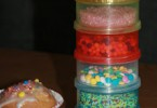 opbergen versiersels cake