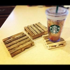 onderzetters houten stokjes