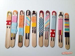 poppetjes houten stokjes
