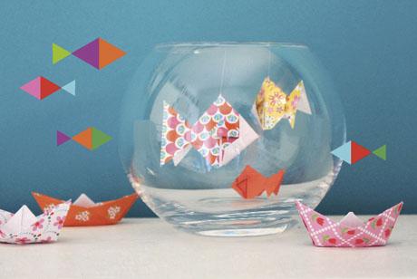 knutselen van papier een aquarium. Black Bedroom Furniture Sets. Home Design Ideas