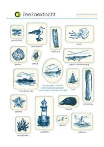 zoekkaart strand
