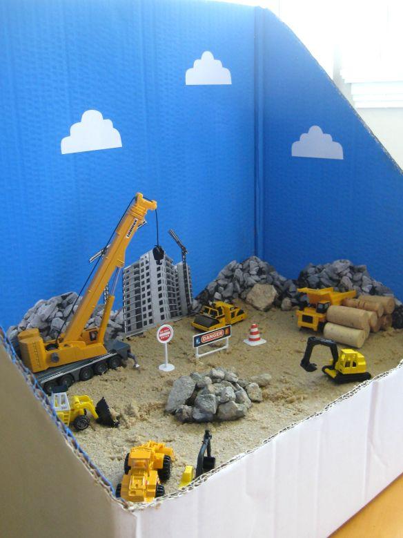 bouwplaats auto's