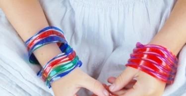 armband van plastic fles