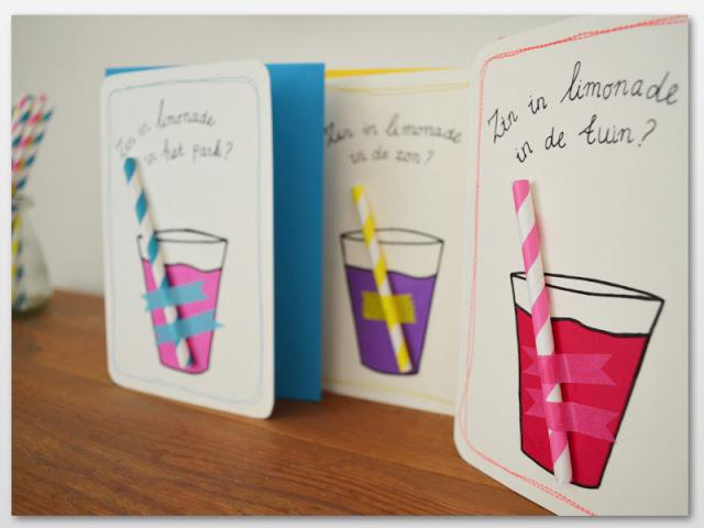 kaart limonade drinken