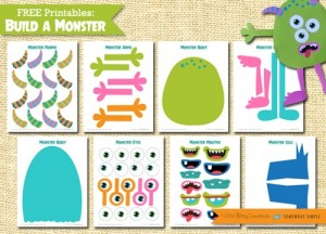 monster maken printable