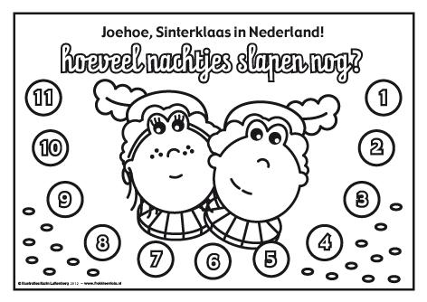 Kleine Pieten Knutselen Kleurplaat De Leukste Aftelkalenders Sinterklaas