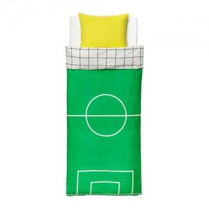 dekbed voetbalveld
