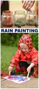 verven in de regen
