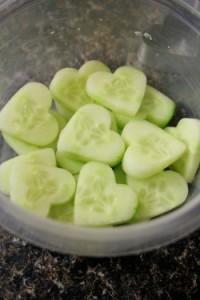 komkommer hartje