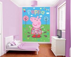 posterbehang peppa pig