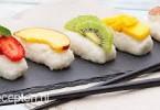 toetje sushi met fruit