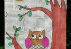 schilderij op krant