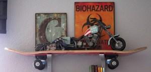 skateboard boekenplank