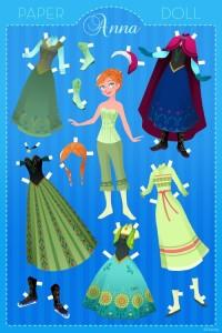 Papieren Aankleedpoppen Oa Anna Uit Frozen Gespot Voor Jou