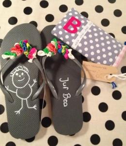 slippers voor de juf als bedankje