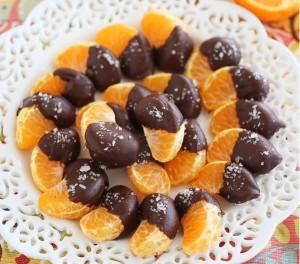 mandarijn met chocolade
