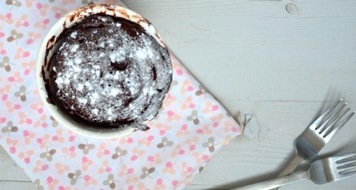 cake in een mok