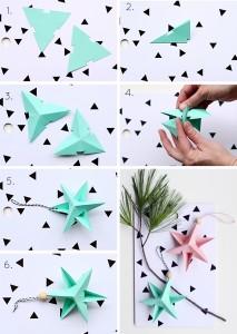 papierern kerstster