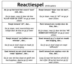 reactiespel