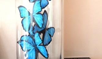 vlinder in stolp diy