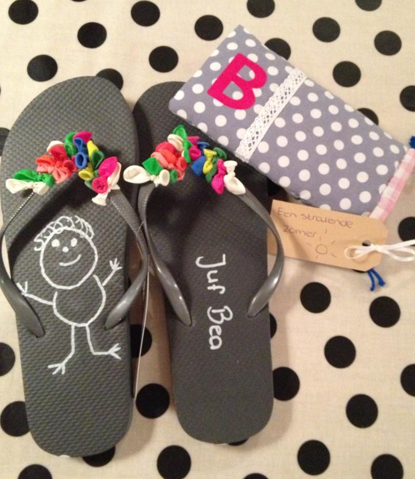 slippers juf bedankje