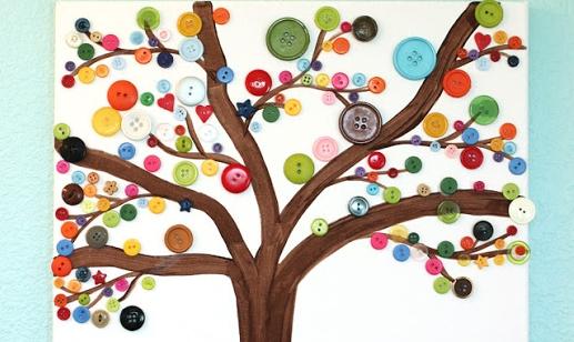 Super Knutselen met knopen: maak een herfstboom - Gespot voor jou! &IL01